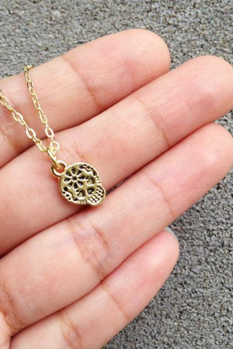 Skull Pendant Necklace - Cute Tiny Skull Necklace - Mini Skull Necklace - Skull Pendant - Skull Jewelry - Skull Accessories