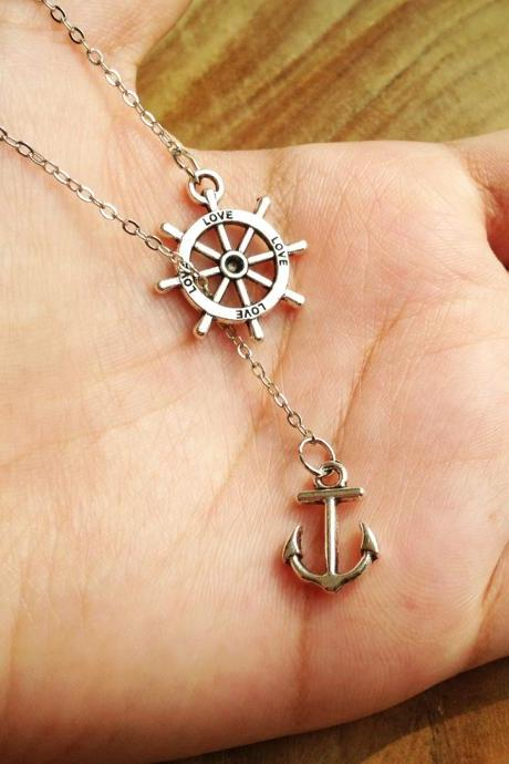 Navy Anchor Pendant Necklace - Navy Necklace - Anchor Necklace - Anchor Jewelry - Anchor Accessories