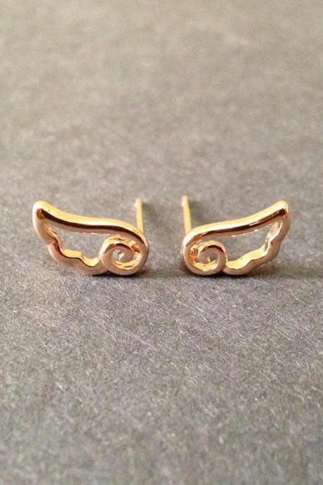 Wings Stud Earrings - Tiny Wings Earrings - Wings Stud - Wings Jewelry - Wing Accessories
