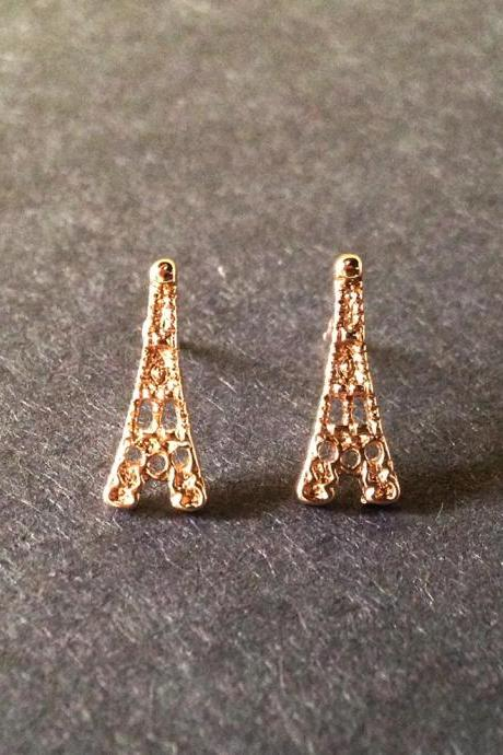 Eiffel Tower Stud Earrings - Eiffel Earrings - French Earrings - Eiffel Stud - Paris Earrings - Eiffel Jewelry - Eiffel Accessories