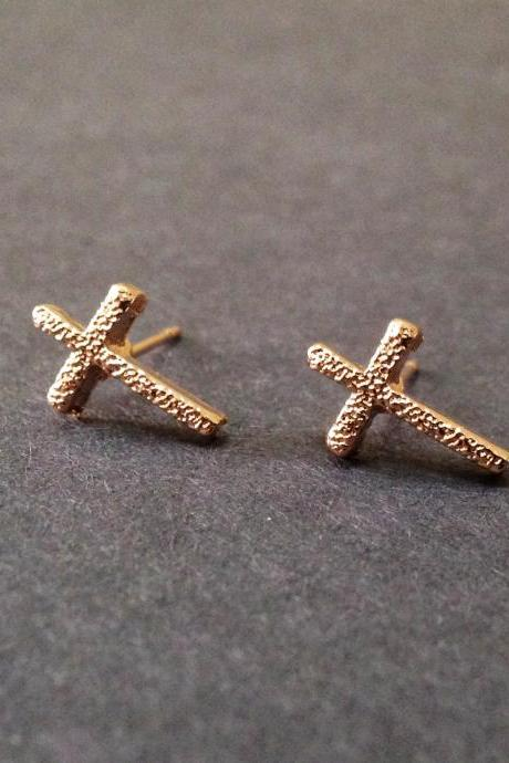 Cross Stud Earrings - Tiny Cross Earrings - Mini Cross Earrings - Cross Stud - Cross Jewelry - Cross Accessories