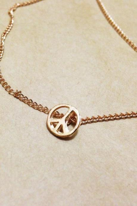 Mini Peace Sign Pendant Necklace - Peace Sign Necklace - Peace Sign Pendant - Peace Sign Jewelry - Peace Sign Accessories