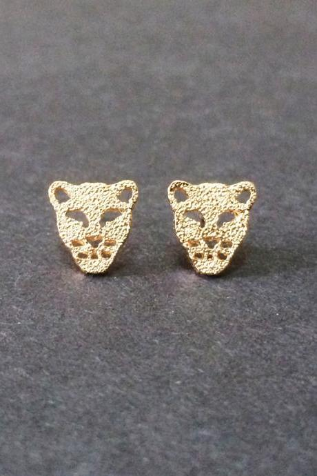 Tiger Stud Earrings - Tiger Earrings - Leopard Earrings - Tiger Jewelry - Tiger Accessories