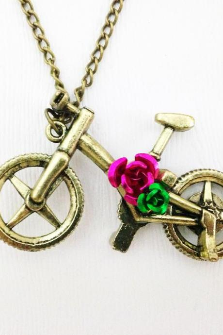 Bicycle Pendant Necklace Antique Bronze - Bicycle Necklace - Bicycle Pendant - Bicycle Jewelry